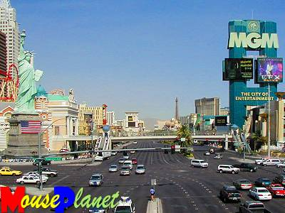 Las Vegas Boulevard, looking North from Excalibur.