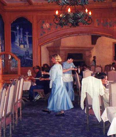 Auberge de Cendrillon. This restaurant is hard to miss with Cinderella's