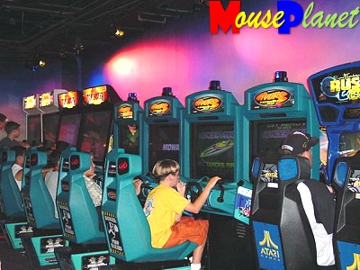 Just some of the many games you can enjoy at DisneyQuest.