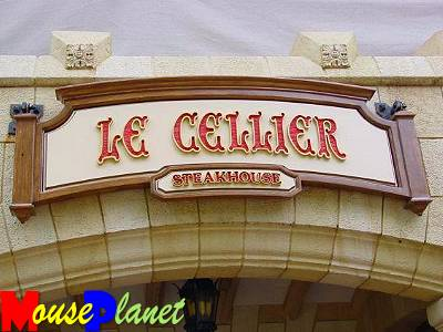 Le Cellier Steakhouse's elegant marquee.