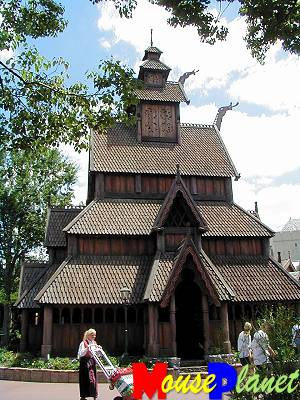 The Stave church.