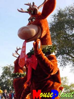 Reindeer in Mickey's Very Merry Christmas Party Parade
