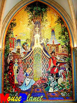 PHOTO: Mural in Cinderella's Castle pays tribute to Imagineers.