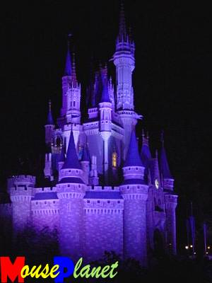 Cinderella's Castle at Night (photo by Sue Holland).