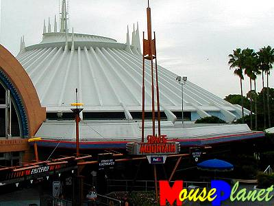 Space Mountain, viewed from the Tomorrowland Transportation Authority.