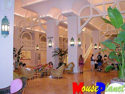 The Beach Club Resort's lobby.