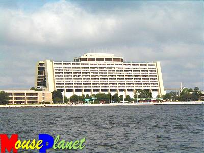 Resort viewed from Bay Lake