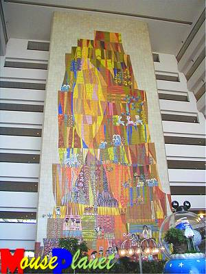 The shopping concourse mural.