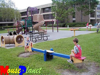 A closer view of the playground.