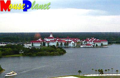 The Grand Floridian Resort and Spa viewed from the California Grill