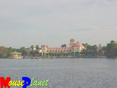 Main resort facilities, viewed from across Logo Dorado
