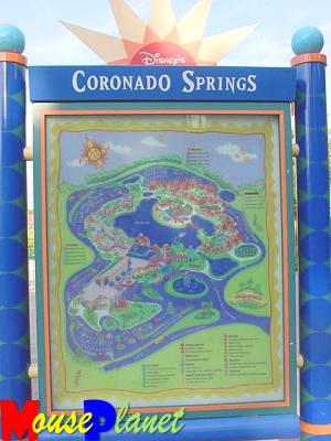 Map of Coronado Springs Resort
