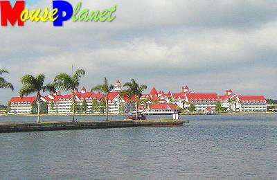 Grand Floridian from across Seven Seas Lagoon