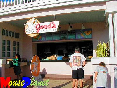 Good's Food to Go is a counter service snack shop.