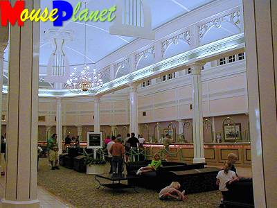 Riverside's check-in lobby, where guests booking passage down river.