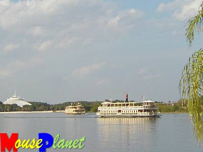 Magic Kingdom Ferries on Seven Seas Lagoon.