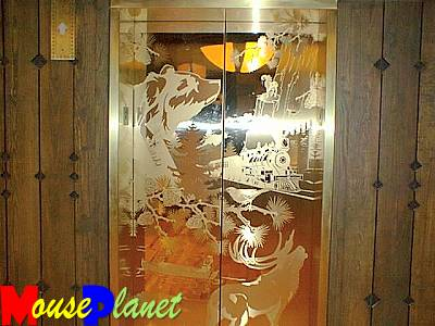 ...and the etchings on the elevator door is another (Photo by Pat Edaburn).