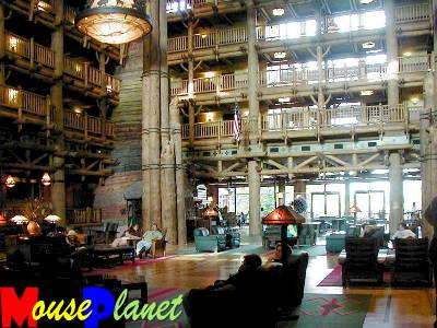 The Lodge's spectacular lobby (photo by Brian Bennett)
