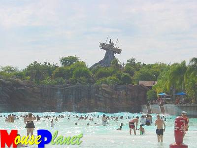 Typhoon Lagoon, from which the whole park gets its' name, is the main wave pool (photo by Sue Holland)